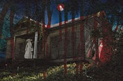 Haunted House Greeting Card Posters - Ghost Bride Poster by Betty Northcutt