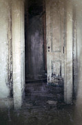 Haunted House Acrylic Prints - Ghost Girl in Hall Acrylic Print by Jill Battaglia