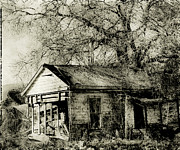 Old House Photos - Ghost House by Linde Townsend
