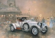 Old Car Posters - Ghost in Scarborough  Poster by Peter Miller