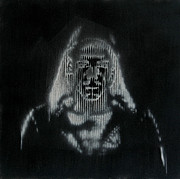 Stencil Art - Ghost in the Machine by Mon Graffito