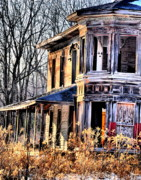 Abandoned Houses Prints - Ghost in The Window Print by Emily Stauring