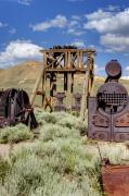 Old Gold Mine Framed Prints - Ghost Mine Framed Print by Ricky Barnard