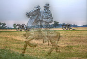 Artillery Digital Art Framed Prints - Ghost Of Gettysburg Framed Print by Randy Steele