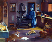 Antiques Paintings - Ghost of Kitchen Past by Nancy Griswold