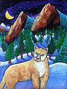 Mountain Lion Paintings - Ghost of the Night by Harriet Peck Taylor