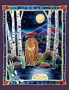Mountain Lion Paintings - Ghost of the Rockies by Harriet Peck Taylor