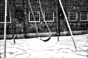 Swing Digital Art Prints - Ghost on a Swing Print by Bill Cannon