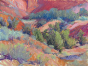 Abiquiu Paintings - Ghost Ranch Canyon by Marsha Savage