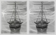 Sfx Photo Prints - Ghost Ship - Gently cross your eyes and focus on the middle image Print by Brian Wallace
