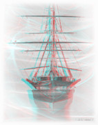 Sfx Photo Prints - Ghost Ship - Use Red-Cyan 3D glasses Print by Brian Wallace