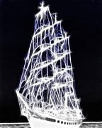 Schooner Prints - Ghost Ship Print by Methune Hively