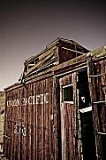 Caboose Photo Prints - Ghost town Caboose Print by Patrick  Flynn