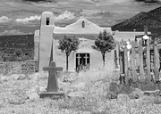 Santa Fe Digital Art - Ghost Town Church by Sonja Quintero