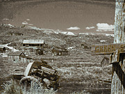 Old Cabins Digital Art - Ghost Town Series 2 by Philip Tolok