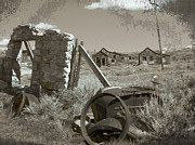 Old Cabins Posters - Ghost Town Series 3 Poster by Philip Tolok