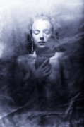 Translucent Framed Prints - Ghost woman Framed Print by Scott Sawyer