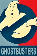 Obama Drawings Posters - Ghostbusters Poster by Paul Van Scott