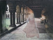 Ruins Mixed Media Originals - Ghostly Adventures by Desiree Paquette