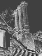 Chimneys Posters - Ghostly Heights Poster by Angela L Walker
