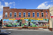 Mural Photos - Ghostly Plant City Mural  by David Lee Thompson