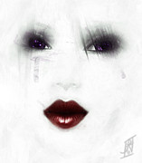 Photo Manipulation Mixed Media Posters - Ghostly Tears Poster by Rosy Hall