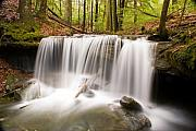Precipitation Metal Prints - Ghostly Waterfall Metal Print by Douglas Barnett