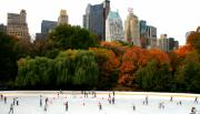 Central Park Prints - Ghosts at Wollman Rink Central Park Print by Christopher Kirby