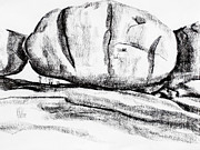 Stone Drawings Prints - Giant Baked Potato at Elephant Rocks State Park Print by Kip DeVore