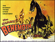 Classic Sf Posters Framed Prints - Giant Behemoth, The, 1959 Framed Print by Everett