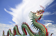 Worship Photo Originals - Giant Chinese dragon  by Anek Suwannaphoom