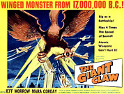 Classic Sf Posters Framed Prints - Giant Claw, The, 1957 Framed Print by Everett