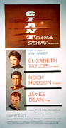 1956 Movies Posters - Giant, Elizabeth Taylor, Rock Hudson Poster by Everett