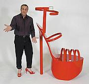 Playful Sculptures - Giant High Heel Shoe Sculpture by Bruce Gray