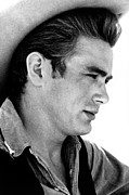 Sideburns Photo Framed Prints - Giant, James Dean, 1956 Framed Print by Everett