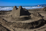 Castle Photo Metal Prints - Giant sand castle Metal Print by Garry Gay