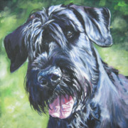 Schnauzer Puppy Framed Prints - Giant Schnauzer Framed Print by Lee Ann Shepard