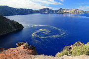 Wizard Art - Giant swirl of pollen at Crater Lake National Park  by Pierre Leclerc