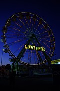 Small Town America Framed Prints - Giant Wheel  Framed Print by Jeff  Swan