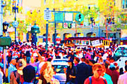 Downtowns Digital Art - Giants 2010 Champions Parade . Photo Artwork by Wingsdomain Art and Photography