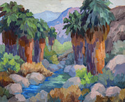 Canyons Paintings - Giants at Indian Canyon by Diane McClary