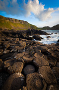 Hexagons Photos - Giants Causeway Circle of Stones by Inge Johnsson