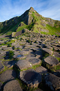 Hexagons Acrylic Prints - Giants Causeway Green Peak Acrylic Print by Inge Johnsson