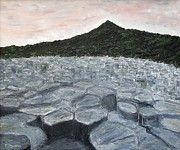 Surreal Landscape Painting Metal Prints - Giants Causeway Metal Print by Patrick J Murphy
