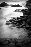 Hexagons Photos - Giants Causeway Waves  by Inge Johnsson