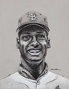 Cardinals Drawings - Gibby by Jim Wetherington