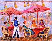 Streetscenes Paintings - Gibbys Cafe by Carole Spandau