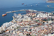 Residential Prints - Gibraltar from Above Print by Artur Bogacki