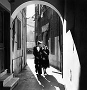 Young Adult Framed Prints - Gibraltar Leave Framed Print by Bert Hardy