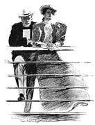 1897 Prints - Gibson: Couple, 1897 Print by Granger